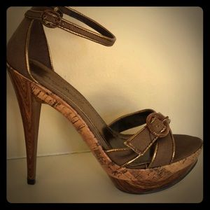 *Unique* Anne Michelle stiletto brown heels.